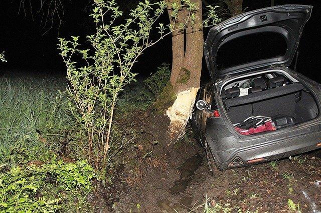 nehoda o strom